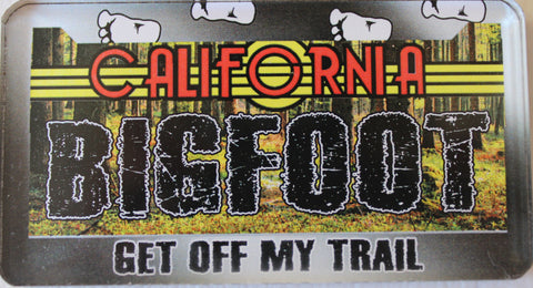 Bigfoot CA License Magnet - Wooded