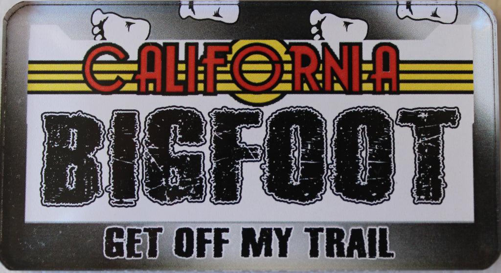 Bigfoot CA License Magnet