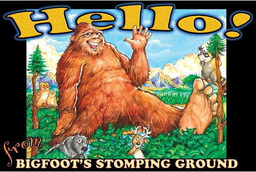 Bigfoot Waving Post Card