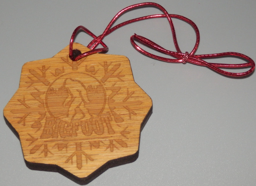 Bigfoot Bamboo Ornament