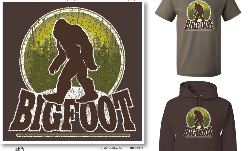 Bigfoot Crackle T shirt and Hoodie
