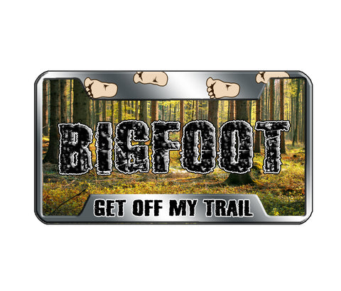 Bigfoot License Magnet - Wooded