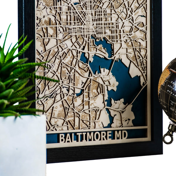 Baltimore 3D Wood Map