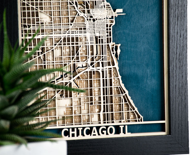 Chicago Laser Cut Map