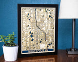 Minneapolis MN 3D Wooden Map