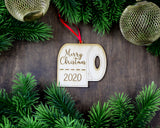 Toilet Paper Christmas Ornaments 2020