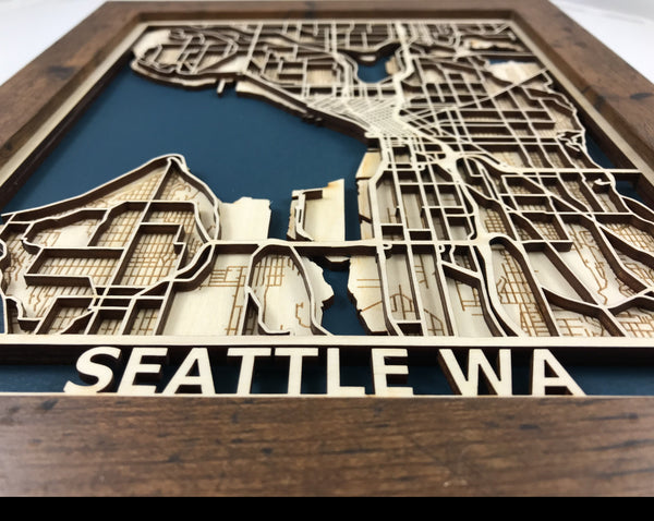 Seattle Washington 3D Map
