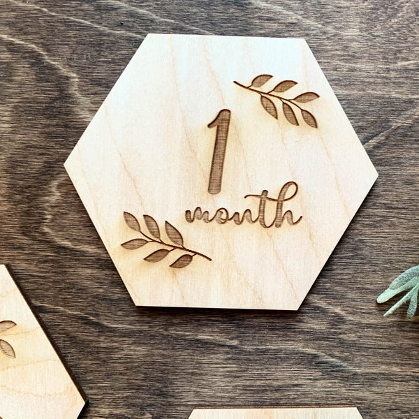 Baby Milestone Cards - Leaves