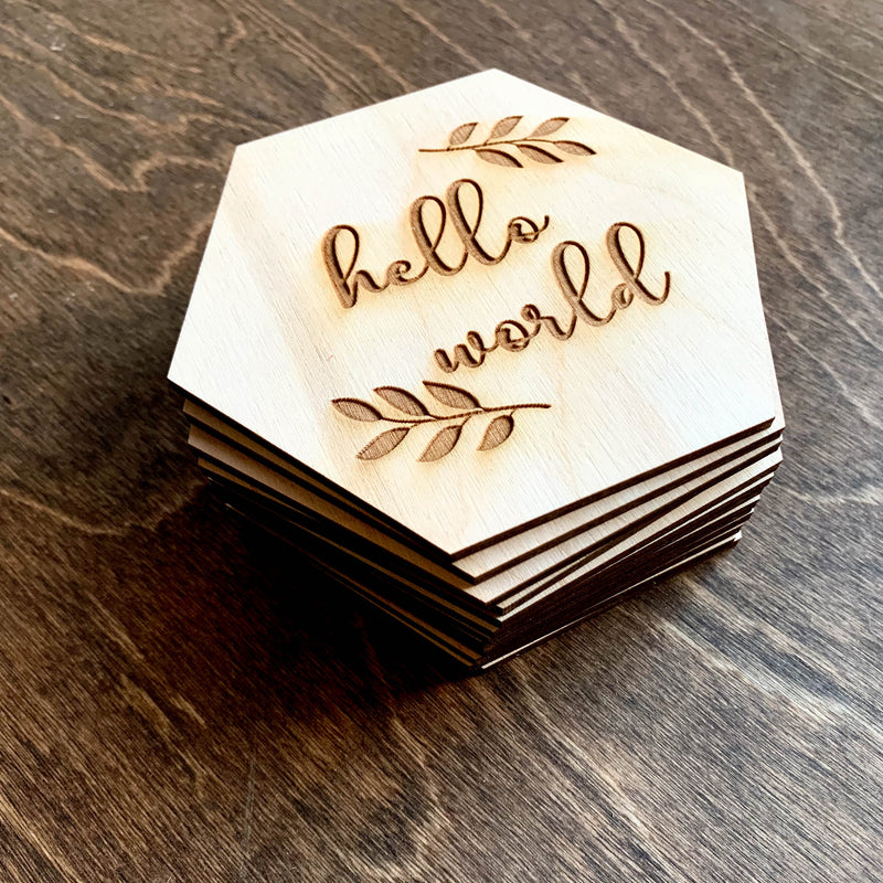 Baby Milestone Cards - Leaves Hexagon