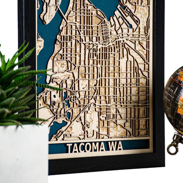 Tacoma 3D Wood Map