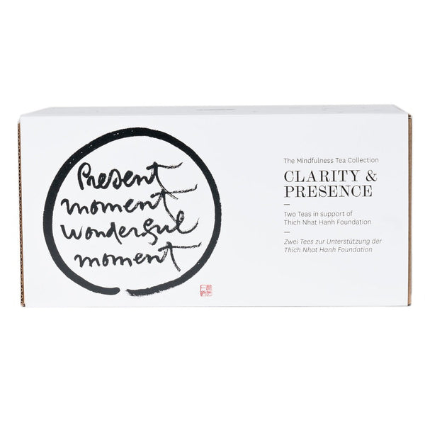 Zwei Origin Tees in einer P & T Geschenkbox zugunsten der Thich Nhat Hanh Foundation  Geschenkset The Mindfulness Tea Collection: Clarity & Presence Geschenk Paper & Tea