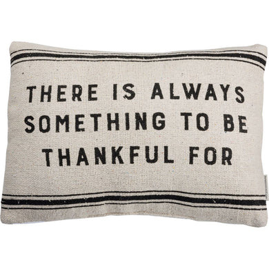 Thankful Burlap Cotton Pillow