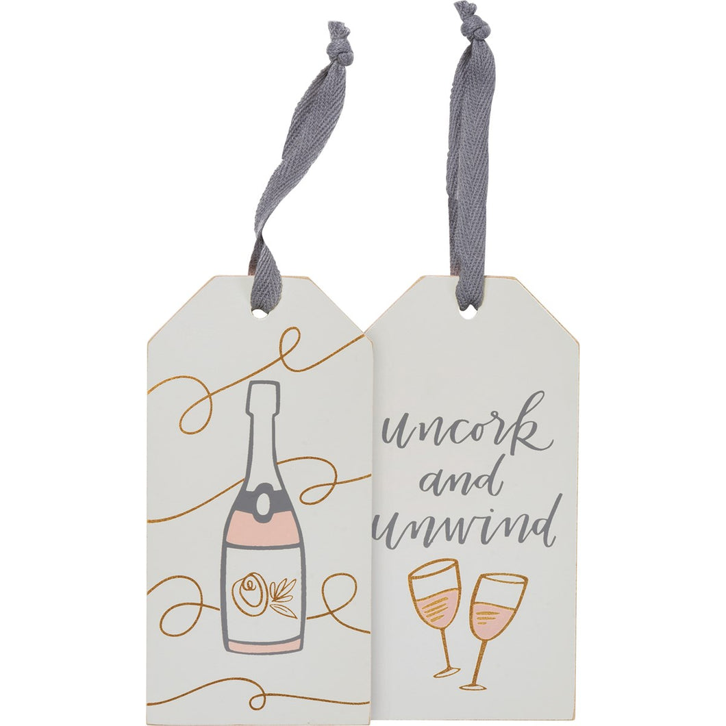 Uncork and Unwind Bottle Tag