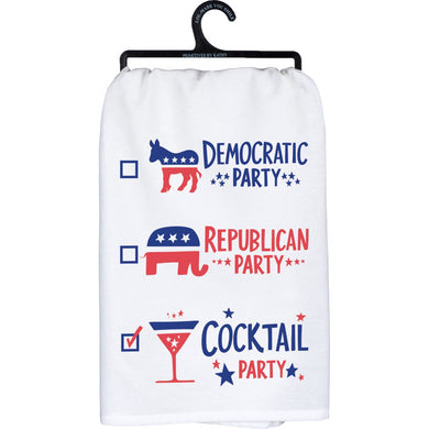 Election Cocktail Party Dish Towel