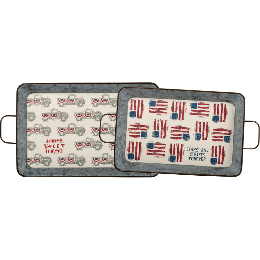 Stars & Stripes Tray Set