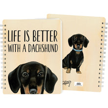 Load image into Gallery viewer, Dachshund Spiral Notebook