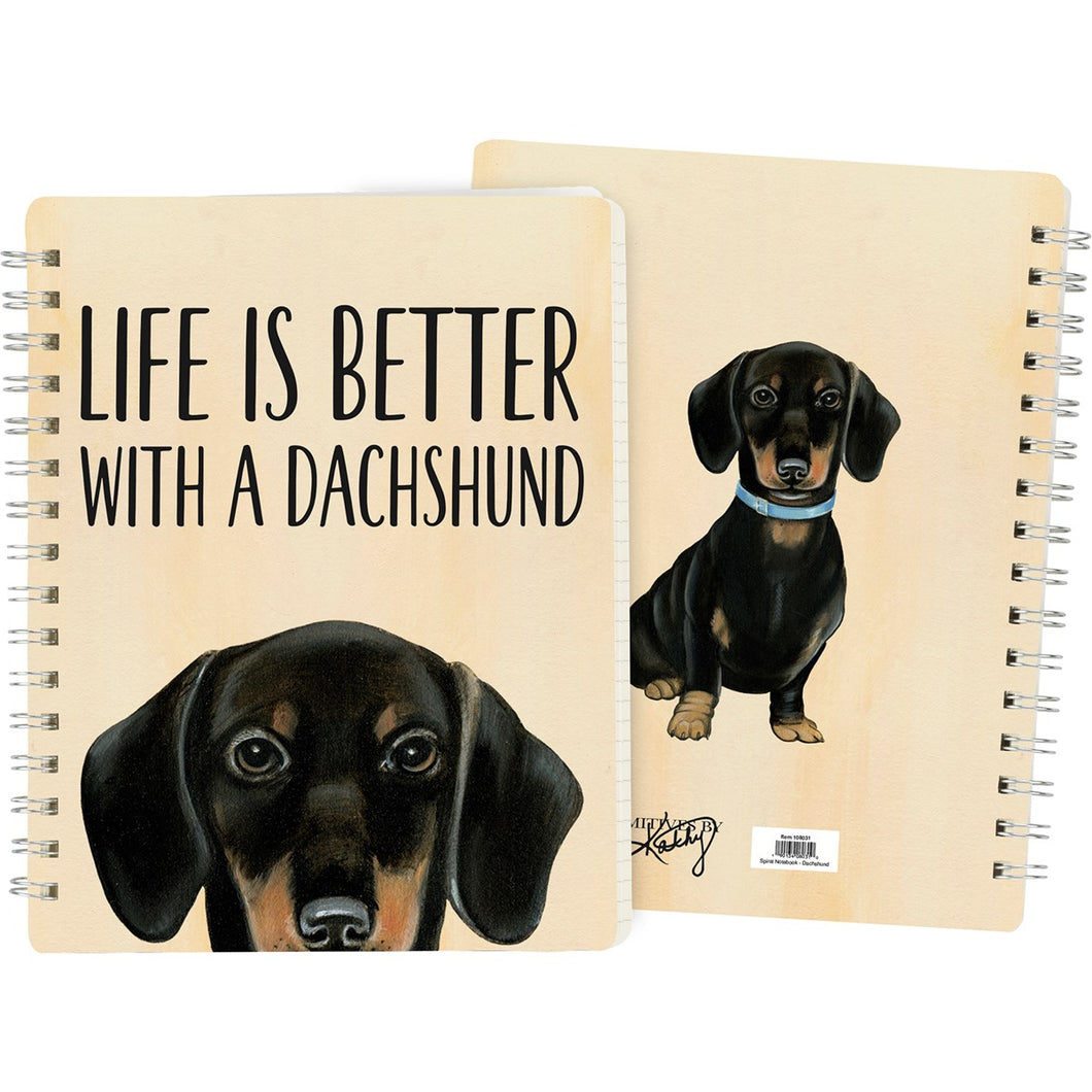 Dachshund Spiral Notebook