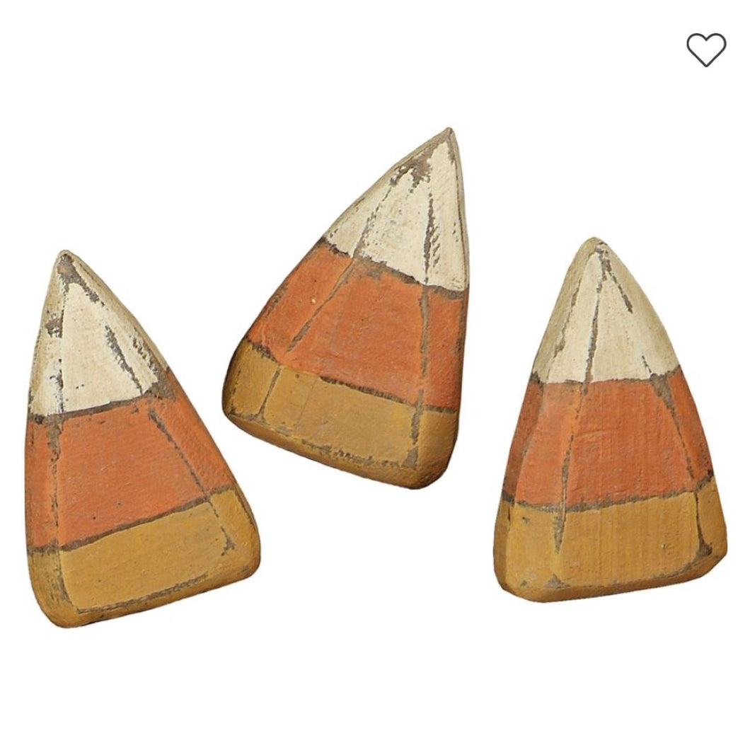 Wooden Candy Corn Sitter Set