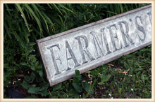 Load image into Gallery viewer, Embossed Farmer's Market Sign