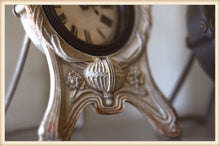 Load image into Gallery viewer, Elegant Pewter Clock