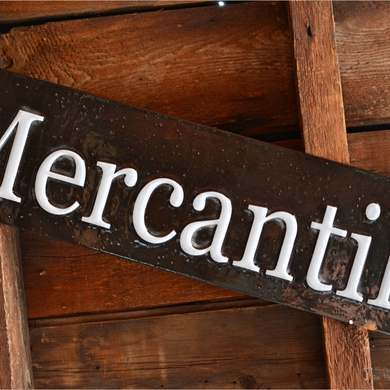 Enamel Mercantile Sign