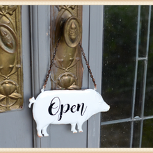 Load image into Gallery viewer, Pig Open Closed Sign