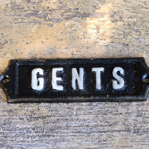 Gents Iron Plaque