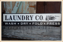 Load image into Gallery viewer, Laundry Co. Metal Sign