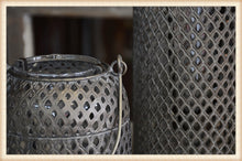 Load image into Gallery viewer, Burnished Metal Votive Lantern Short
