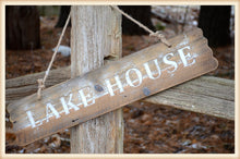 Load image into Gallery viewer, Wood Lake House Sign