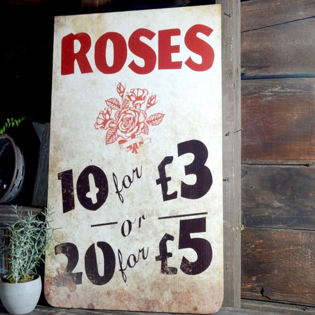 Roses For Sale Sign