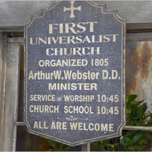 Load image into Gallery viewer, Vintage Church Sign
