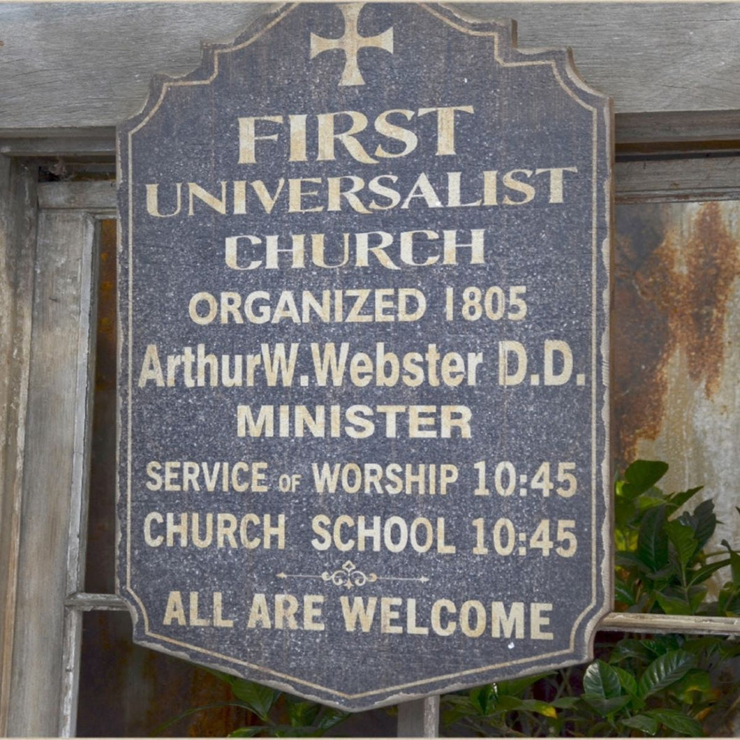 Vintage Church Sign