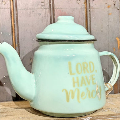 'Lord Have Mercy' Teapot