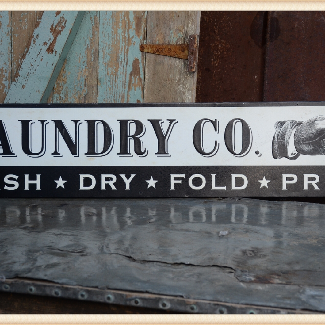 Laundry Co. Metal Sign