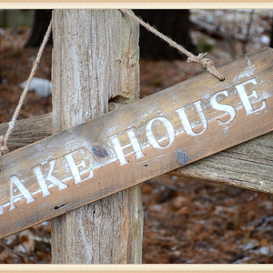 Wood Lake House Sign