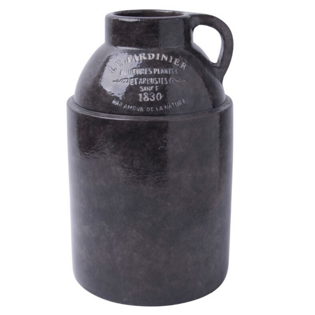 Black Pottery Jug