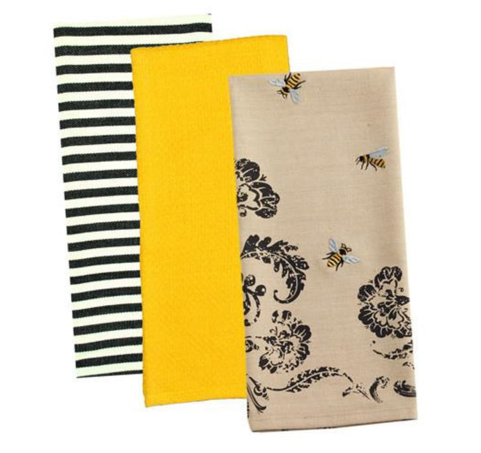 Busy Bee Dishtowels, Set of 3