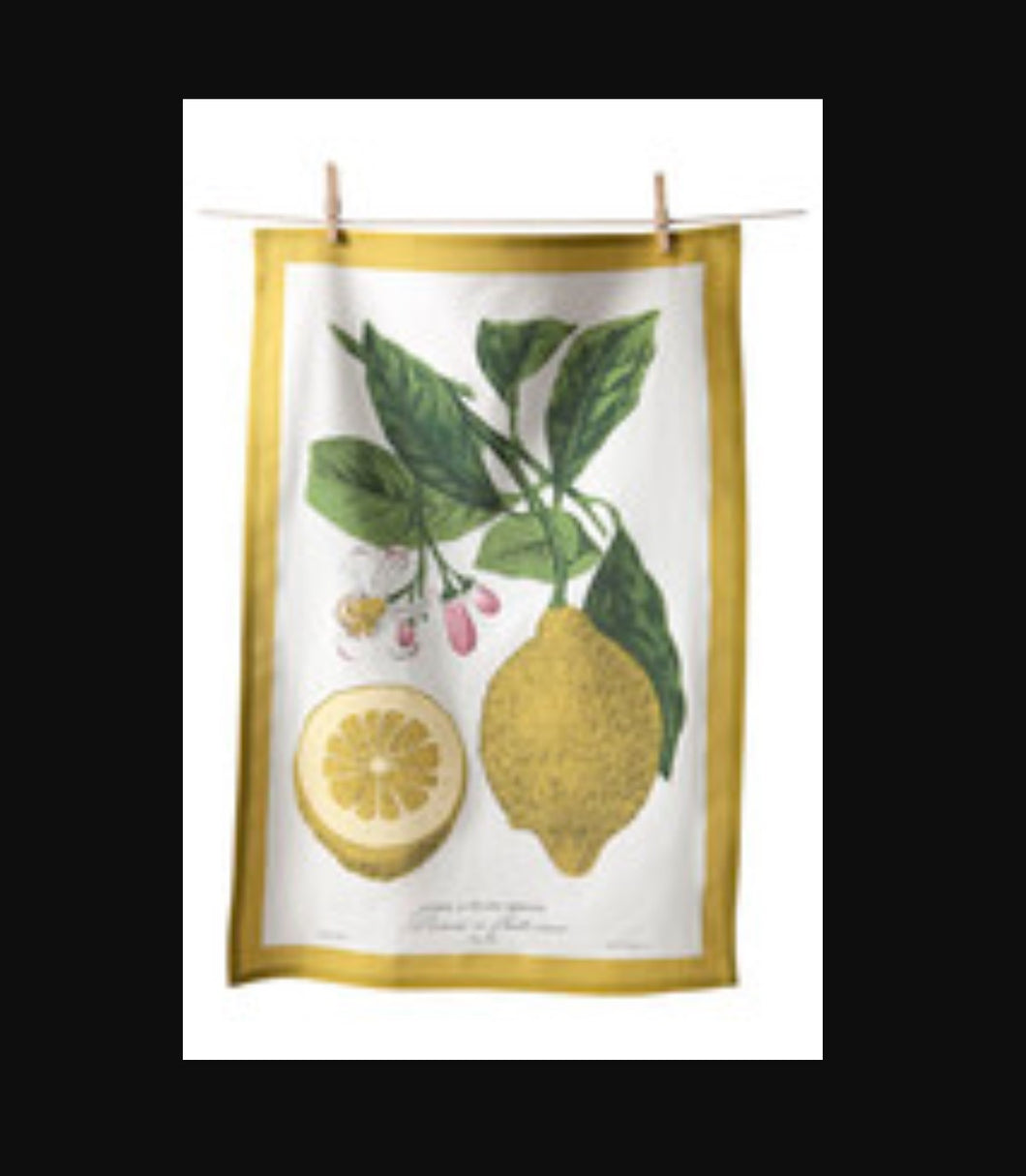 Lemon Flour Sack Towel