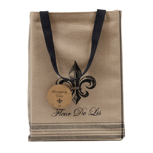 French Grain Sack Printed Totes, Set of 3