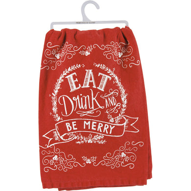 Eat Drink & Be Merry Dish Towel