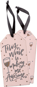 Wine Awesome Bottle Tag