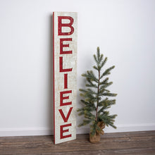 Load image into Gallery viewer, Jumbo Carved Believe Sign