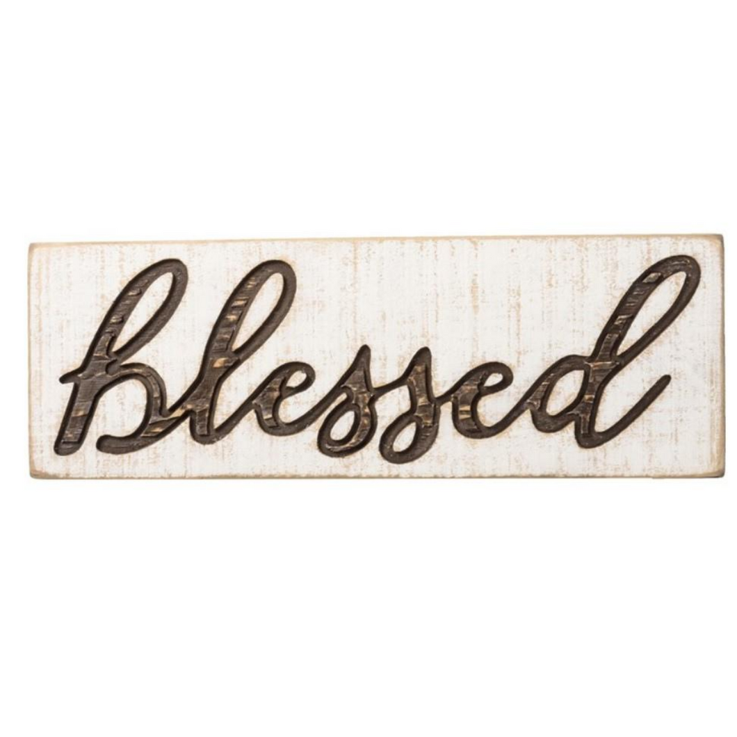 Carved Blessed Sign