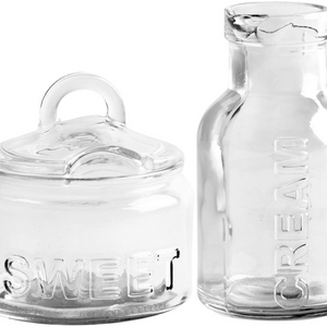 Glass Sugar & Creamer Set