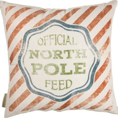 North Pole Feed Pillow