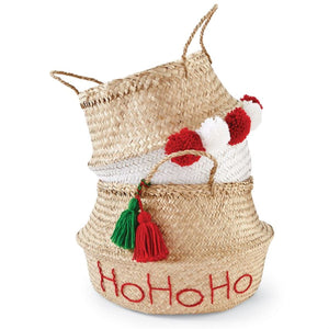 Holiday Seagrass Baskets, Set of 2