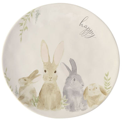 Watercolor Happy Bunny Platter