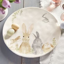 Load image into Gallery viewer, Watercolor Happy Bunny Platter