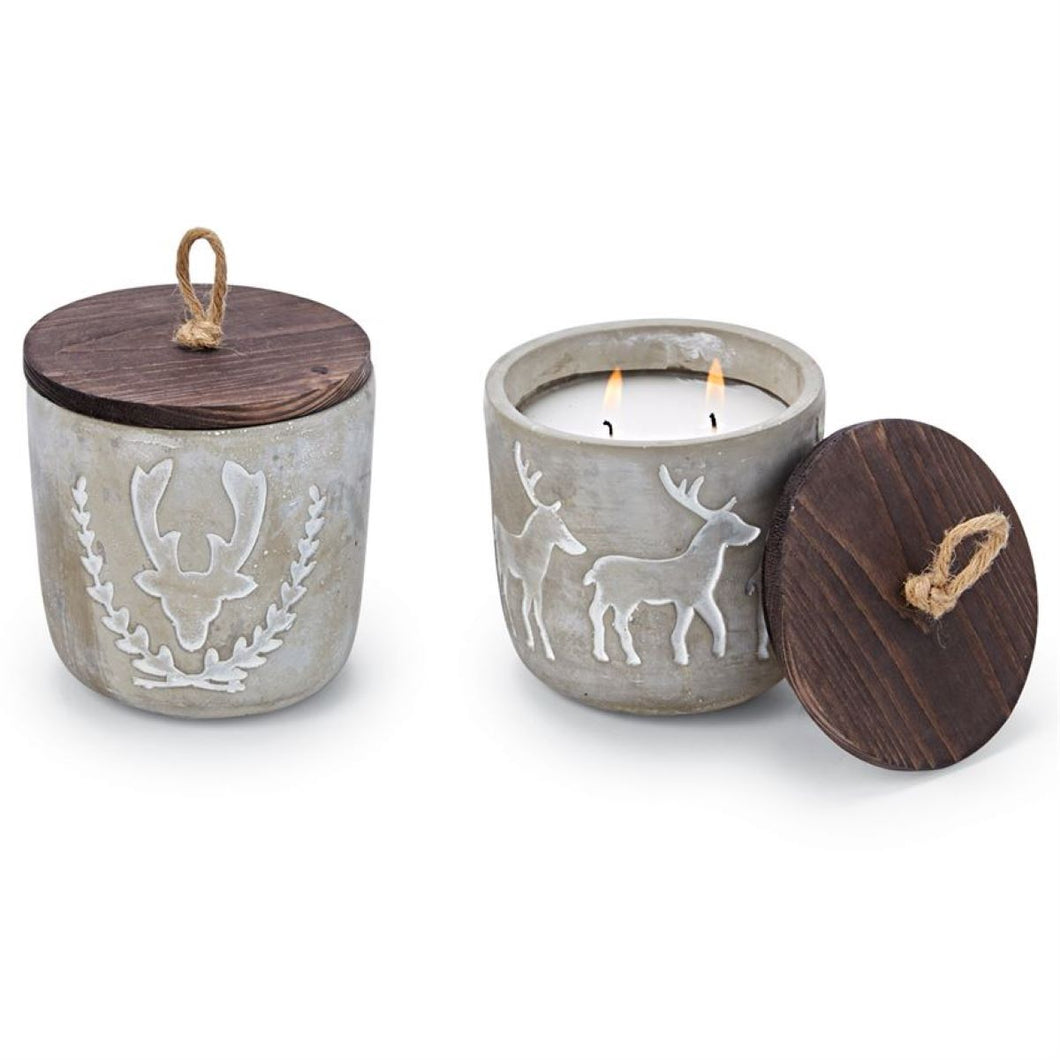 Concrete Deer Candle